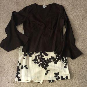 Linen top with matching skirt